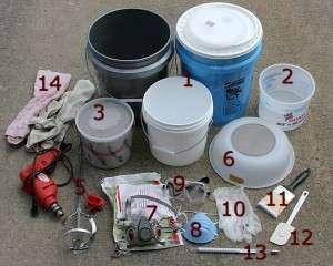 glaze mixing materials and equipment