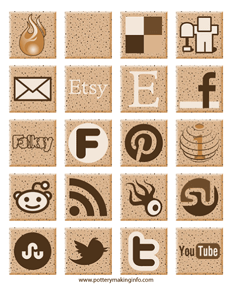 Speckled Clay Social Media Icons