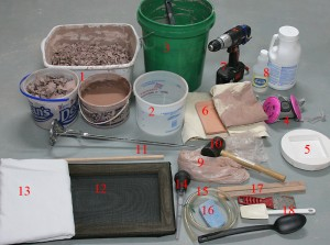 materials for recycling clay