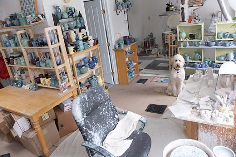 Gary Rith - pottery studio