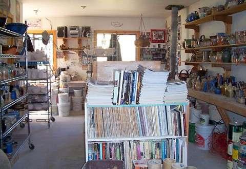 Sherry Wells - pottery studio