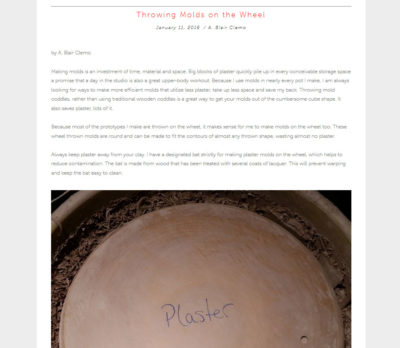 throwing molds on the pottery wheel