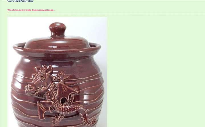 Gary's Third Pottery Blog