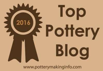 top pottery blog badge - tan