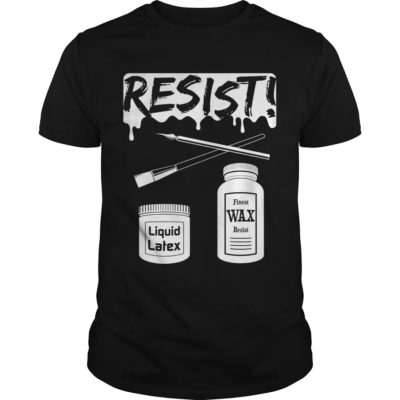 RESIST! (all white) Pottery Shirt