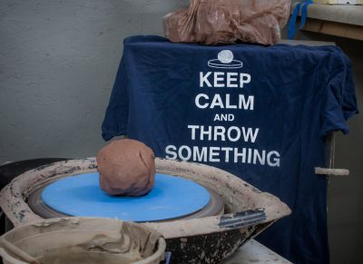 Pottery gifts: keep calm pottery shirt